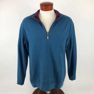 Tommy Bahama Reversible 1/4 Zip Sweater Pullover